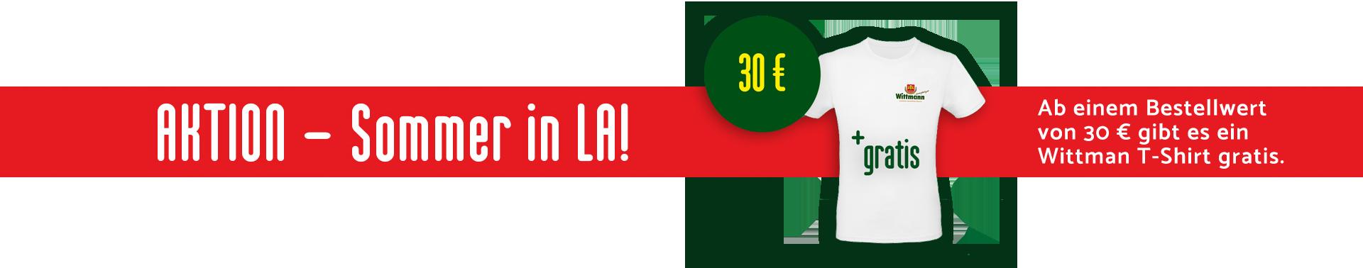 Gratis T-Shirt ab einem Einkauf von 30 Euro