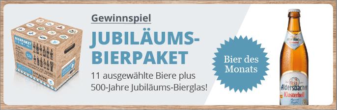 Jubiläums-Bierpaket Gewinnspiel