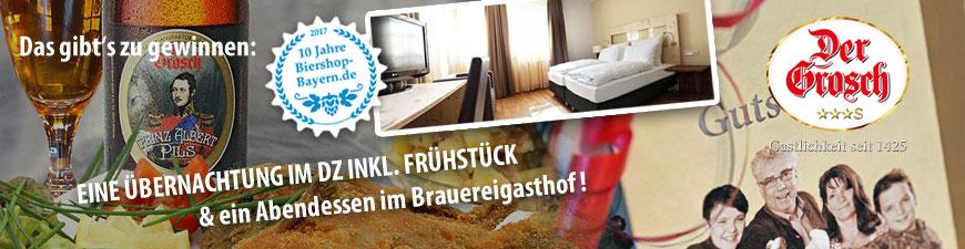 Handewerksbrauerei Der Grosch und 10 Jahre Biershop Bayern
