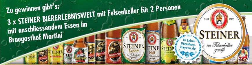 Schlossbrauerei Stein und 10 Jahre Biershop Bayern
