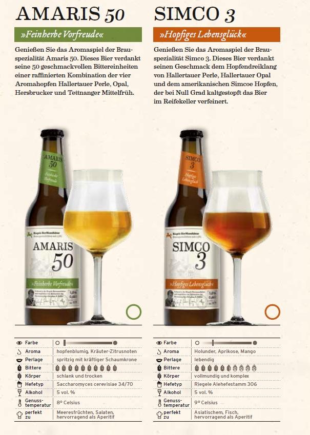 Riegele Bierbeschreibungen